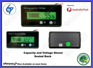 LCD 12V 24V 36V 48V Battery Status Voltage Voltmeter Monitor Meter Caravan