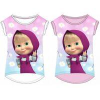 Girls Children Masha and the Bear Short Sleeve Tee Tshirt Top Age 2-8 years