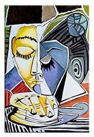 Pablo Picasso-90x60cm Ölgemälde Handgemalt Leinwand Signiert G00785