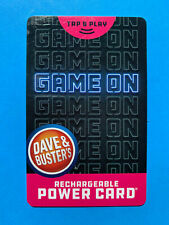 Dave And Busters Power Card w/ Over 10,000 Tickets ~ D & B (10,206) Prize Points