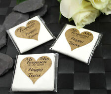 Wedding Pocket Hankie Tissues Packets Favours  Personalised Gold / Silver Heart