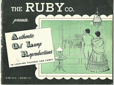 1950s Ruby Lighting Catalogue Antique Reproductions Oil Lamps Historic New York