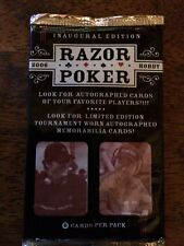 2006 razor poker trading cards sealed pack inaugural edition