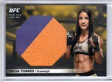 2018 Topps UFC Knockout TECIA TORRES Gold Parallel 1/1 JUMBO FIGHT MAT RELIC