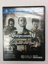 VERY RARE !!!  Sony PS Vita Supremacy MMA Unrestricted Complete