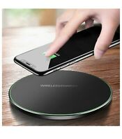 Qi Wireless Fast Charger Charging Pad for I Phone Samsung Galaxy Note10 S9 S8 S7