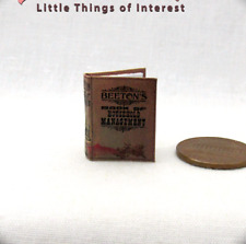 MRS. BEETON'S Book OF HOUSEHOLD MANAGEMENT Miniature Book Dollhouse 1:12 Scale