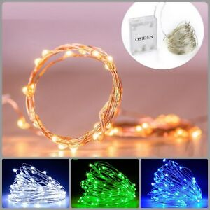 Christmas Lights 2M 5M 10M Battery Led Strings Copper Wire Party Decor Lighting