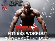 MMA TRAINING FITNESS Dvd In 4DVD con 25 WORKOUT Fitness Dvd Bellezza Dvd Dieta