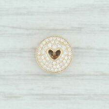 Authentic PANDORA 757557cz Heart of Luxury Clip Bead 14k Gold Charm