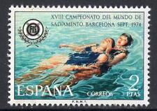 SPAGNA Gomma integra, non linguellato 1974 sg2260 18th Campionati Mondiali di salvataggio, Barcellona