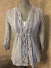 Hollister California V Ausschnitt Knopfleiste Fashion Shirt Top Größe small S Nwot