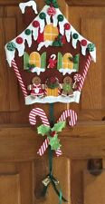 APPLIQUÉ GINGERBREAD HOUSE CHRISTMAS WALLHANGING  SEWING PATTERN by Gail