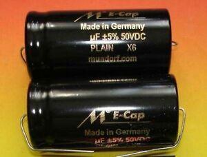 2x MUNDORF Elko glatt 100µf Audio Kondensator 1 pair capacitor 35VAC 50VDC ecap