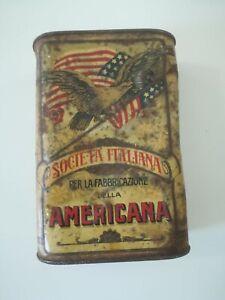 Scatola di polvere da sparo per caccia da 250 g. Americana  gunpowder tin