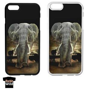 Rockin Wild Elephant Wildlife IPhone Case Cover 5 6 7 8 Plus X 11