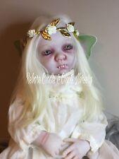 "Reborn Vampire / Fairy Baby Doll Horror 21"" OOAK ART Lily Belle"
