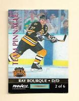 (1) CHELIOS  / BOURQUE 1992-93 TEAM PINNACLE # 2   NRMT-MT CARD (H0078)