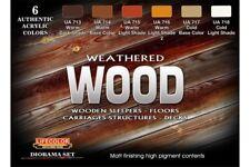 LifeColor CS20 Weathered Wood 6x 22ml Acrylic Colours