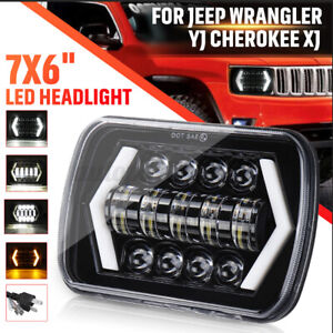 7x6'' 5x7'' LED Headlight Hi-Low DRL Turn Signal For Toyota for Hilux for Jeep