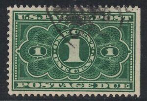 Scott JQ1- Used- 1c Parcel Post Postage Due, 1913- Back of Book Stamp