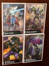 Transformers Combiner Wars Pack-in Cards Sky Lynx BlackJack Onslaught Shockwave