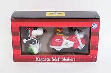 Peanuts - Snoopy - Joe Cool Woodstock & Motorcycle Salt & Pepper Shakers 18275