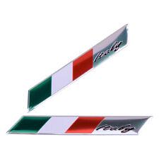 3D Flagge Logo Aufkleber Italien Italy Fahne Auto Motorrad Alu Sticker Emblem ye