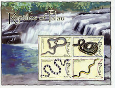 Palau 2004 MNH Reptiles of Palau 4v M/S Snakes Stamps