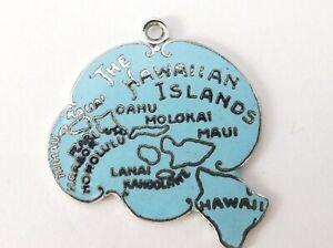 Hawaii Hawaiian Islands sterling silver enamel travel charm US state USA America