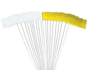 Trials UK Section Flags - 10 Yellow/10 White