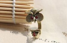 Girlz! Cute Personality Red Eye Owl Ring - UC-EWOF-9JLR