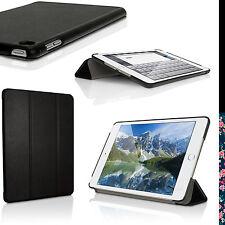 Schwarz PU Leder Smart Cover für Apple iPad Mini 4. Generation Tasche Hülle Case