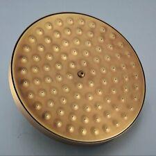 Antique Brass Round Rainfall Shower Head Rotatable Top Rain Shower Head