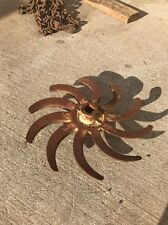 Vintage Steampunk Rotary Hoe Wheel Cast Iron Garden Decoration Decor
