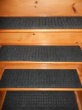 4 = Step  8.1/2'' x 35''  Indoor Outdoor Stair Treads Non-Slip 100% Rubber .