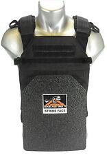 CATI 1/4 Frag Coat Body Armor  (AR)500 Steel Plates Sentry Carrier BLACK Level 3