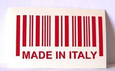 adesivo etichetta barcode MADE IN ITALY codice a barre decal sticker