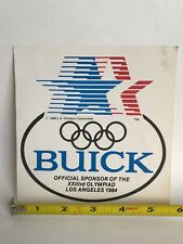 Buick promo USA 1980 Olympic decal Sticker NOS unused New