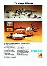 Publicité Advertising 058  1978   Sitram autocuiseur casseroles  art culinaire