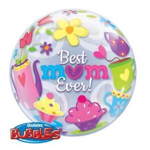 Best Mum Ever! Tea Time 22 Inch Qualatex Bubble Balloon