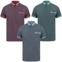 Kensington Eastside Men's Artillery Cotton Polo Shirt Woven Knitted T-Shirt Top