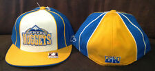Denver Nuggets REEBOK Fitted Hat Authentic NBA Headwear Blue/White Size 7 3/4