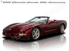 2003 Chevrolet Corvette 50th Anniversary New Metal Sign: Fully Restored