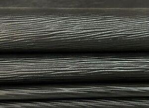 BLACK EPI LV textured thin soft Lambskin Lamb leather 2 skins 10sqf 0.5mm #A7333