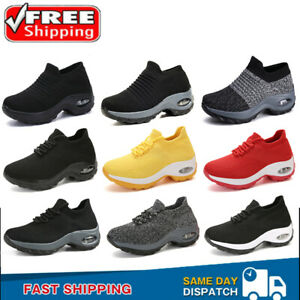 Women's Air Cushion Sock Shoes Athletic Outdoor Tennis Sneakers Jogging Sports
