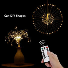 120 LED Copper Wire Fairy string Lights Firework Strip Wedding Decor warm white