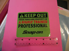 SNAP-ON TOOLS > A HIGHLY TRAINED PROFESSIONAL > Tool Box/Racing STICKER OFFICIAL