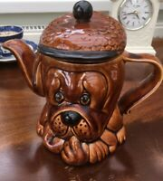 Vintage 1960s Tea Pot Droopy Dog Retro. Price Kensington Tea Pot.  Brown Glazed