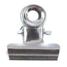 12 PCS Ton Argent Metal Papier Bureau Document Classeur Pinces 20mm E5K9